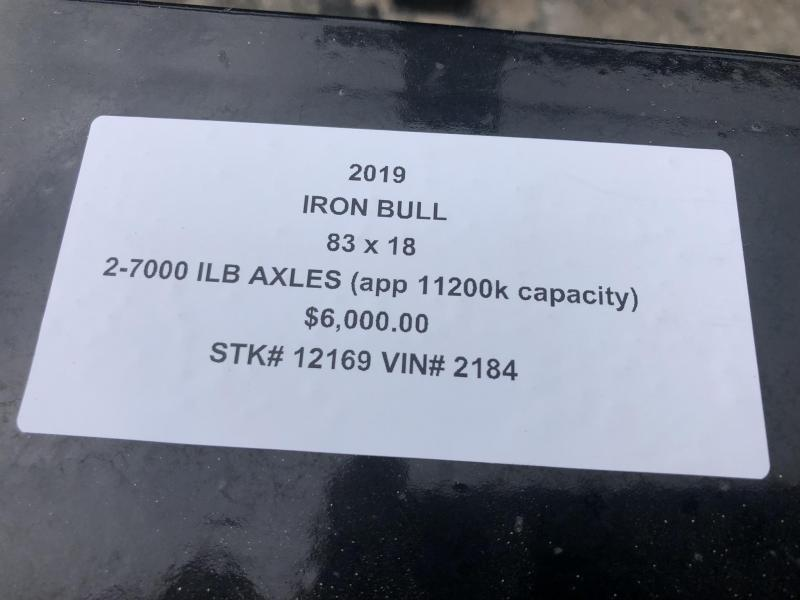 2019 IRON BULL 83 X 22 TILT LO PRO EQUIPMENT HAULER LOPRO TRAILER