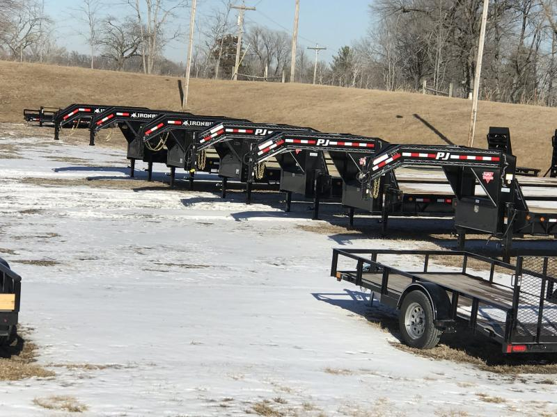 2019 IRON BULL 102 X 26 GOOSENECK DECK OVER FLATBED TILT TRAILER