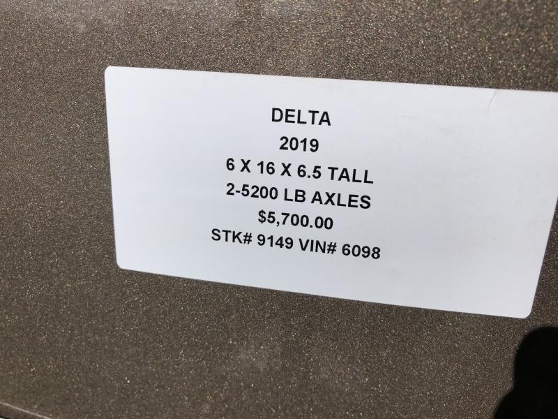 2019 DELTA 6 X 16 X 6.5 STOCK TRAILER