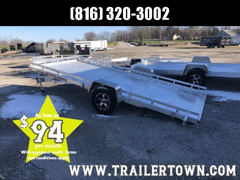 2019 BEAR TRACK 81 X 14.5 ALL ALUMINUM TILT UTILITY TRAILER