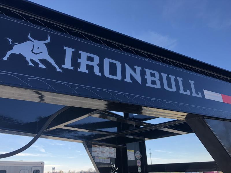 2019 IRON BULL 102X25 GOOSENECK LOPRO DECKOVER FLATBED TRAILER WITH 10K LB AXLES