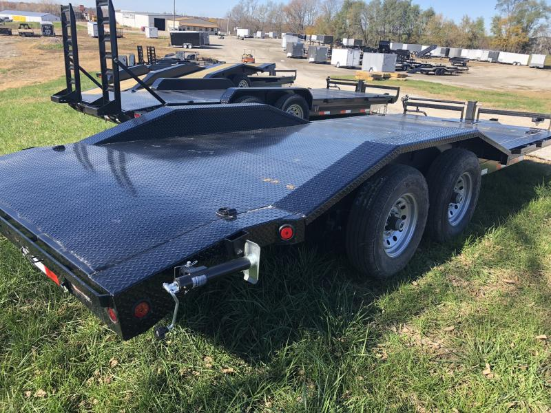 2019 IRON BULL 102X20 EQUIPMENT HAULER TRAILER WITH DRIVE OVER FENDERS