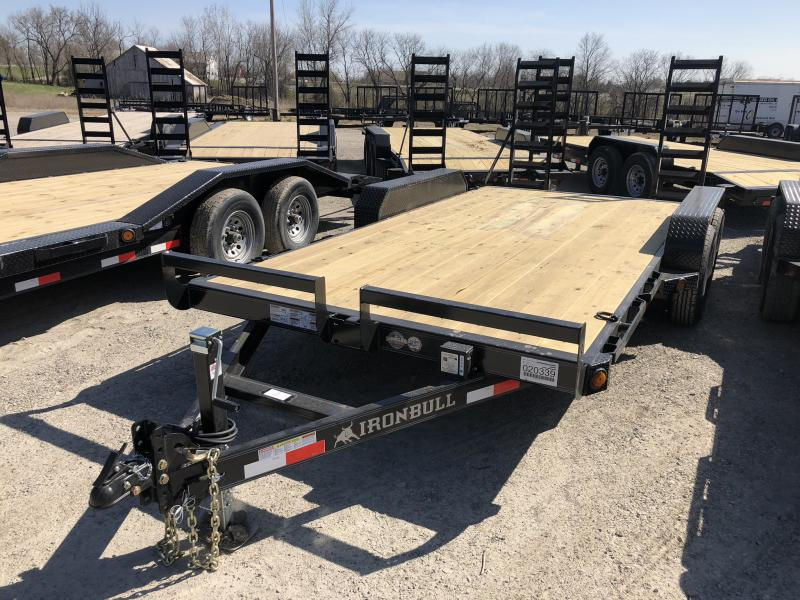 2018 IRON BULL 83X16 EQUIPMENT HAULER TRAILER