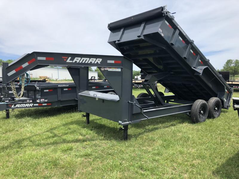 2018 LAMAR TRAILERS 83X16 GOOSENECK LOPRO DUMP TRAILER in Dawn, MO