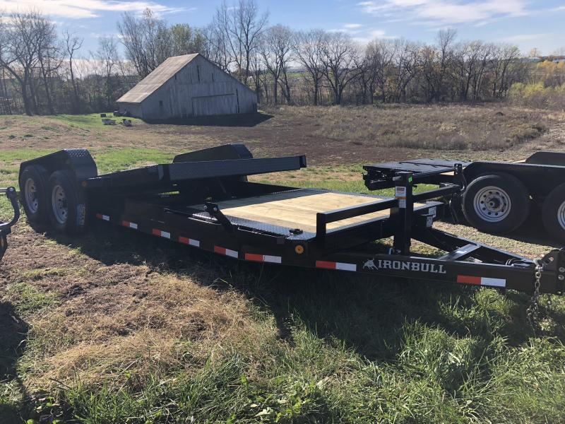 2019 IRON BULL 83 X 22 TILT EQUIPMENT HAULER LOPRO TRAILER
