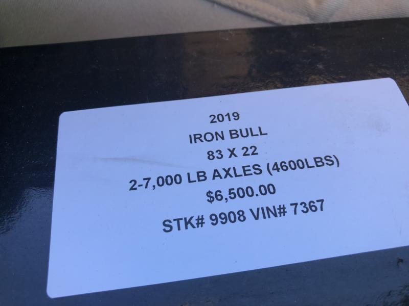 2019 IRON BULL 83 X 22 TILT EQUIPMENT HAULER LOPRO TRAILER
