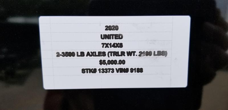 2020 UNITED 7 X 14 X 6 ENCLOSED CARGO TRAILER