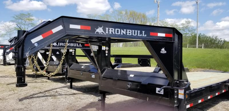 2019 IRON BULL 83 X 24 Gooseneck Equipment Trailer
