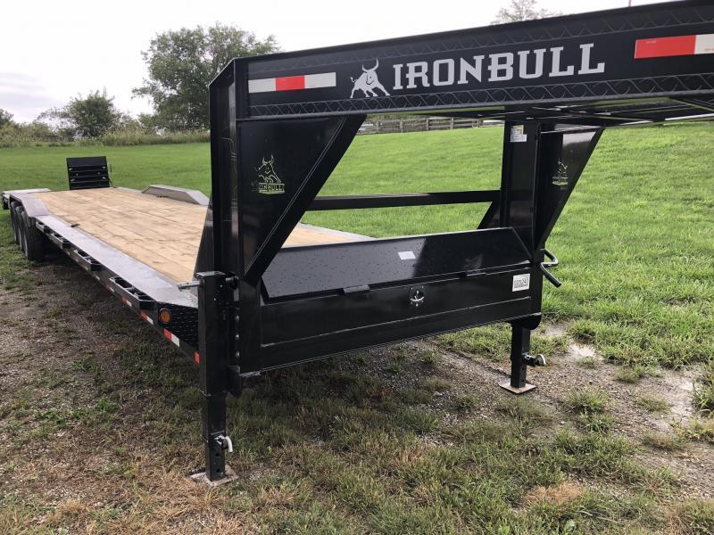 2018 IRON BULL 102X44 EQUIPMENT HAULER TRAILER WITH DRIVE OVER FENDERS