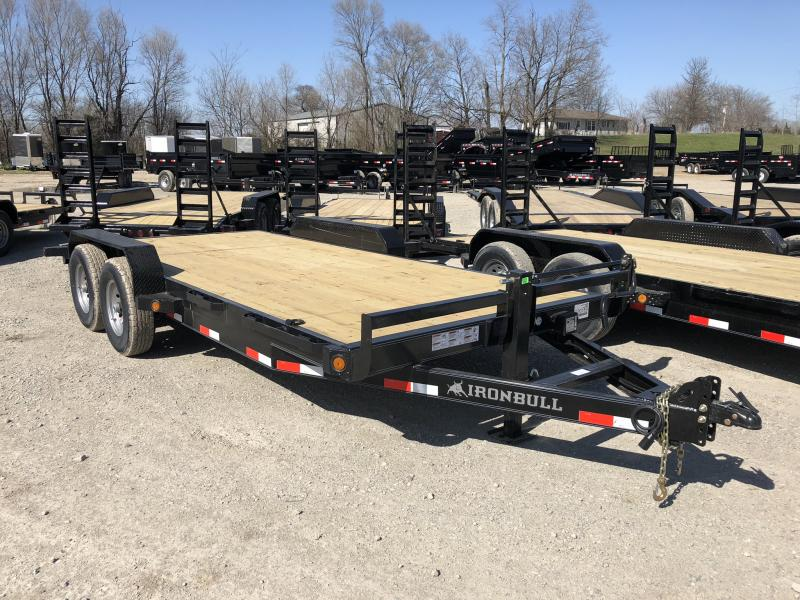 2018 IRON BULL 83X18 EQUIPMENT HAULER TRAILER