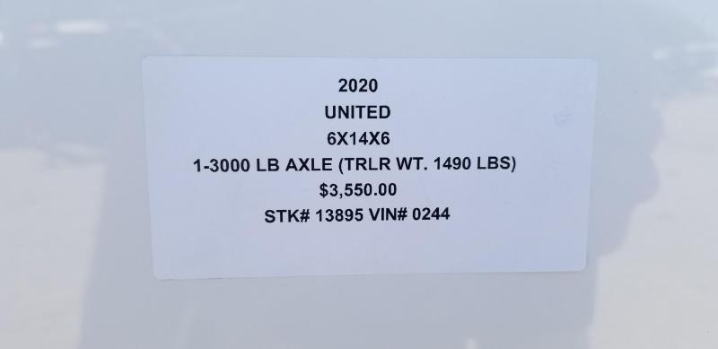 2020 UNITED 6 X 14 X 6 ENCLOSED CARGO TRAILER