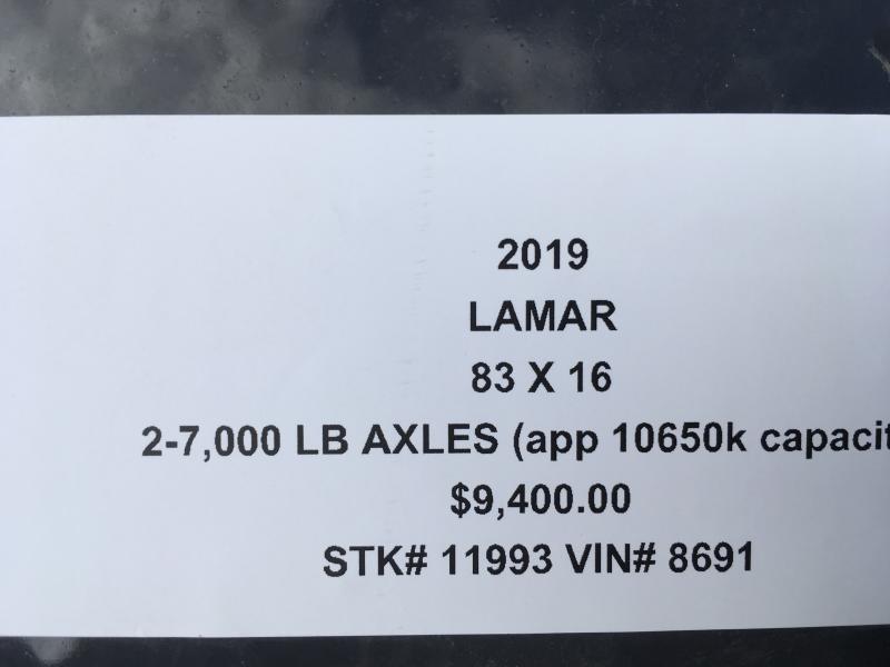 2019 LAMAR 83X16 GOOSENECK LOPRO DUMP TRAILER