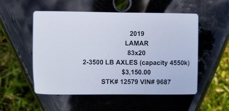 2019 LAMAR 83X20 EQUIPMENT TRAILER