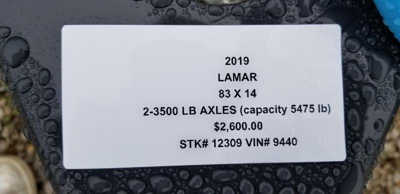 2019 LAMAR 83X14 CLASSIC UTILITY TRAILER