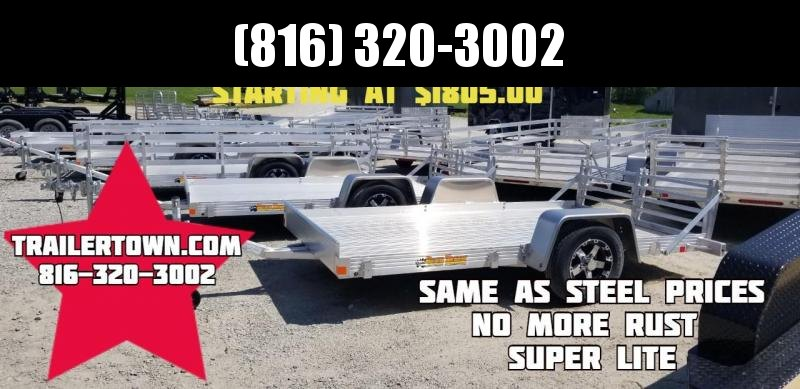 2019 BEAR TRACK 76 X 12 ALL ALUMINUM UTILITY TRAILER WITH SIDES KIT