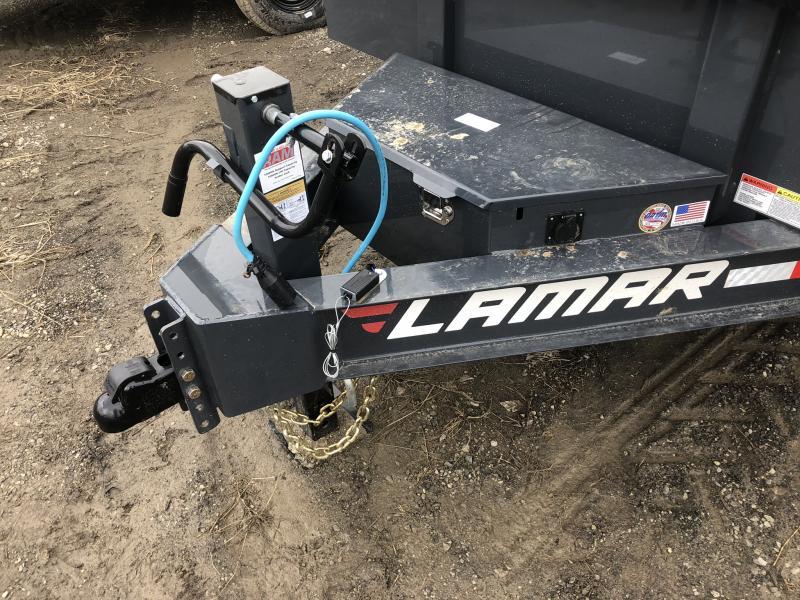 2019 LAMAR 83X16 BUMPER DUMP LOPRO TRAILER
