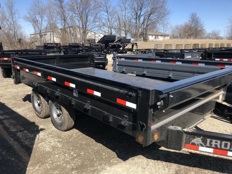 2018 IRON BULL 96X14 BUMPER DUMP DECK OVER TRAILER