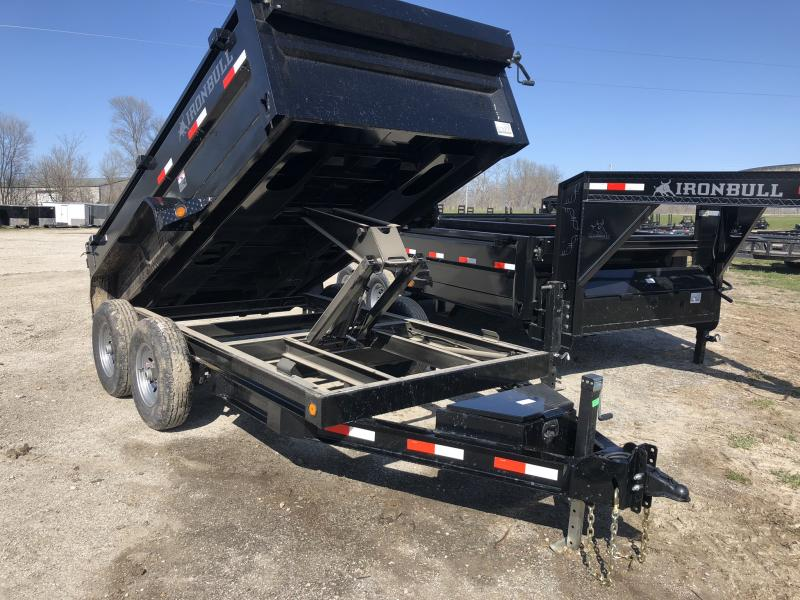 2018 IRON BULL 72X12 BUMPER DUMP TRAILER in Dawn, MO