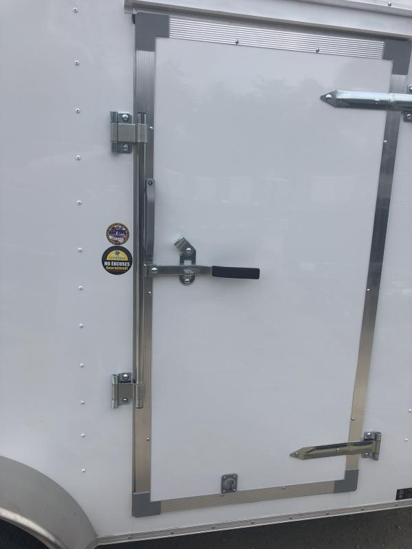 2018 UNITED 7 X 14 X 6 ENCLOSED CARGO TRAILER WITH LADDER RACKS