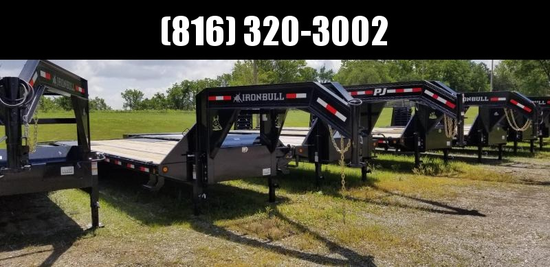 2019 IRON BULL 102X32 GOOSENECK LOPRO DECK OVER FLAT BED TRAILER WITH HYDRAULIC DOVE TAIL