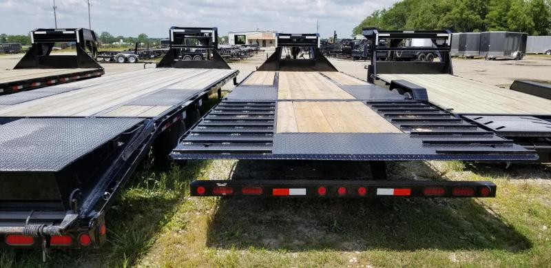 2019 IRON BULL 102X32 GOOSENECK LOPRO DECK OVER FLAT BED TRAILER