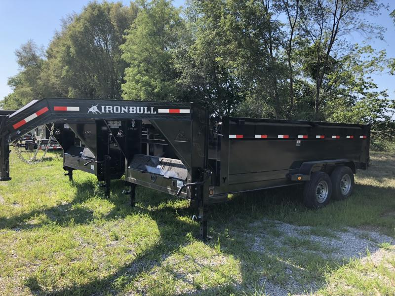 "2018 IRON BULL 83x16 GOOSENECK DUMP TRAILER WITH 36"" SIDES in Dawn, MO"