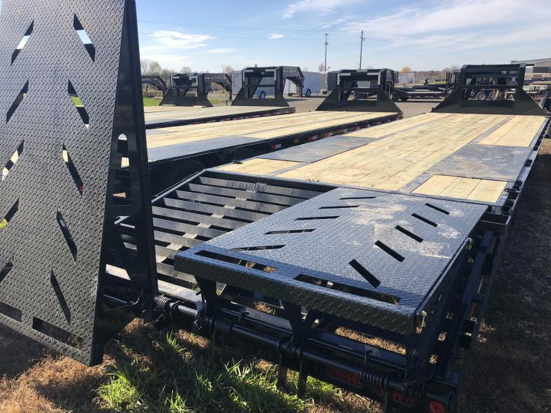 2019 IRON BULL 102X32 GOOSENECK LOPRO DECKOVER FLATBED TRAILER WITH 10K LB AXLES