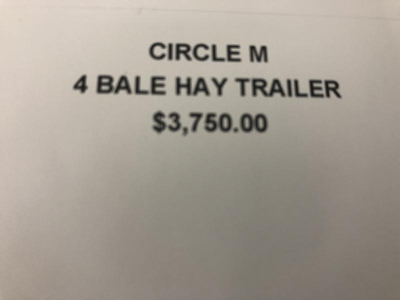 2017 CIRCLE M 4 BALE HAY HAULER TRAILER