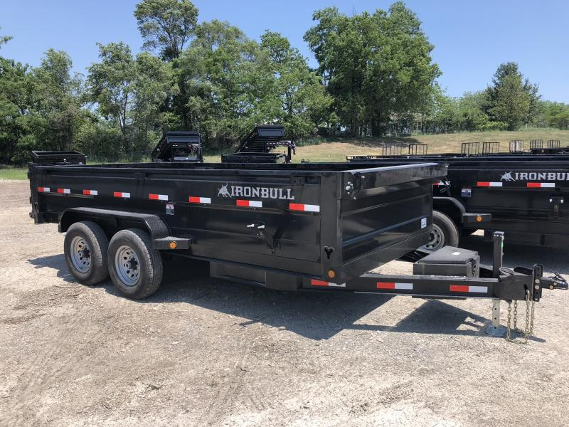 2018 IRON BULL 83X16 BUMPER DUMP TRAILER in Dawn, MO
