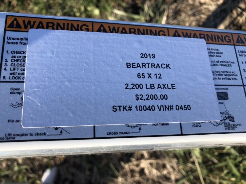 2019 BEAR TRACK 65 X 12 ALL ALUMINUM UTILITY TRAILER