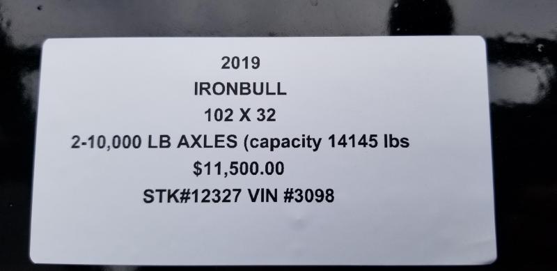 2019 IRON BULL 102X32 GOOSENECK LOPRO