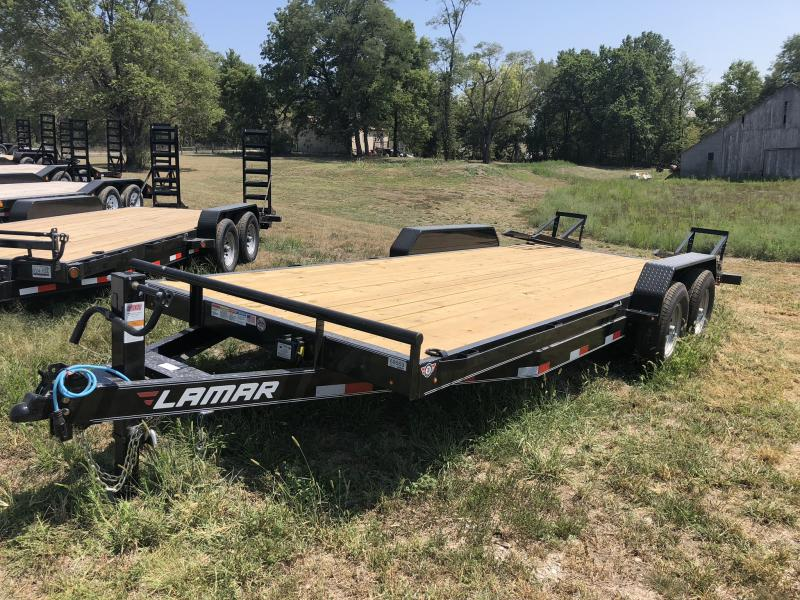 2018 LAMAR 83X20 EQUIPMENT HAULER TRAILER