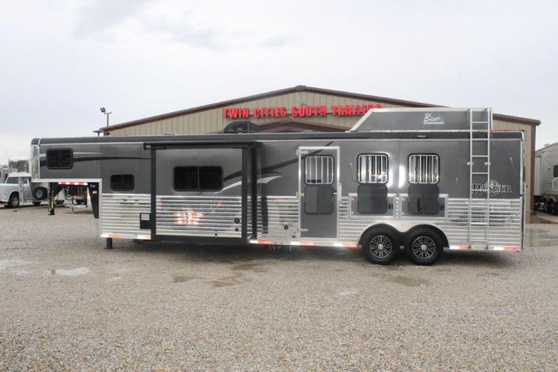 2017 Bison 3 horse with 15' LQ with Slide Out