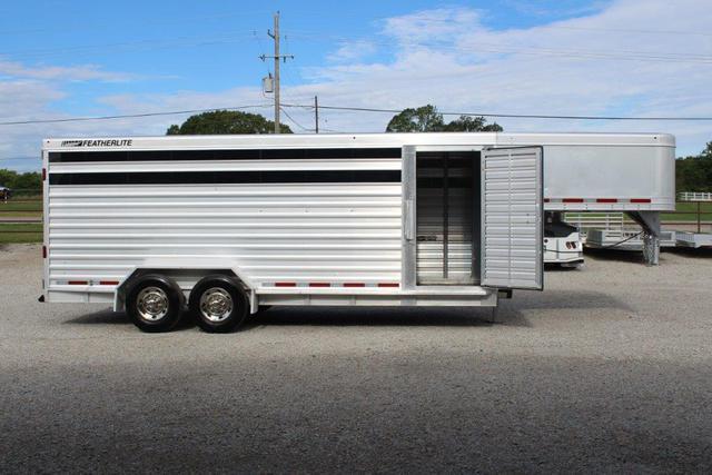 2011 Featherlite 20' stock trailer