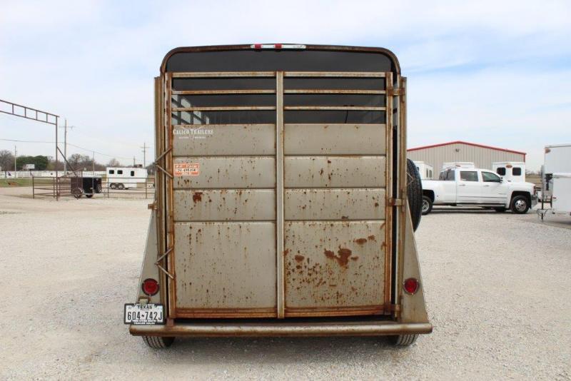 2005 Calico 2 horse slant bumper pull