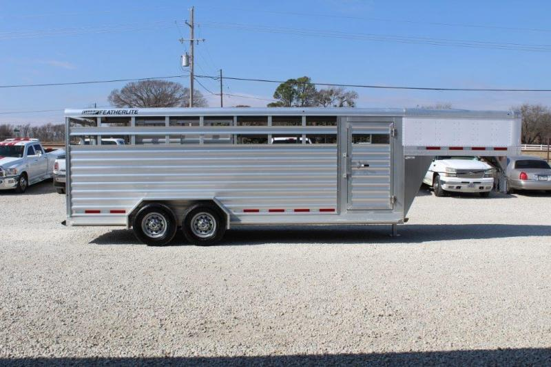 2015 Featherlite 20' stock trailer