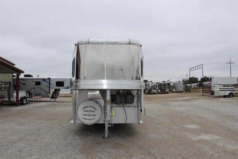 2003 Kiefer 3 horse 8' LQ with MidTack