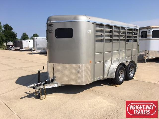 Delta 14' 2 Horse Slant Load Trailer
