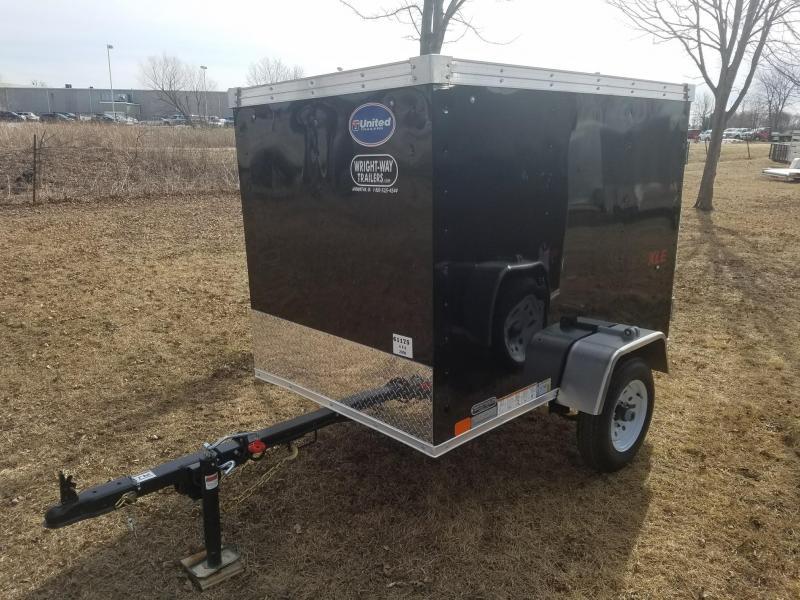 2018 United Trailers XLE 4x6 Enclosed Cargo Trailer