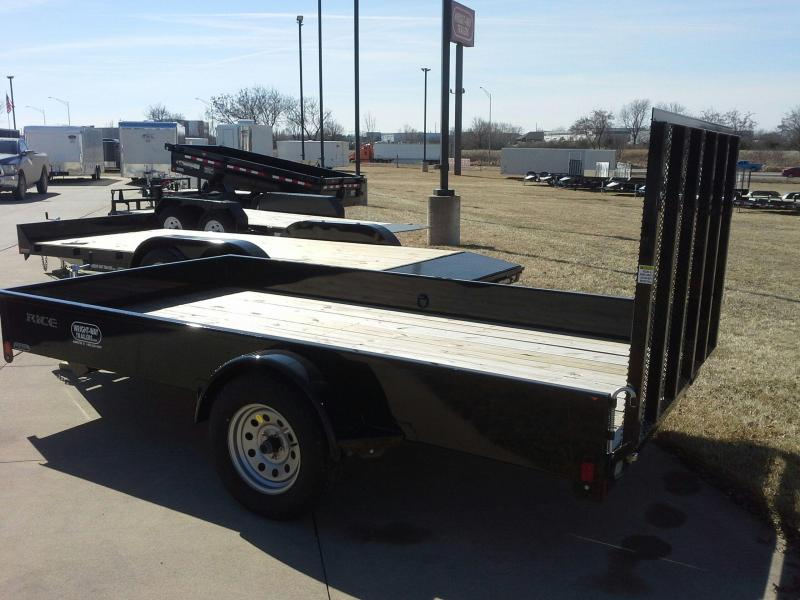 RICE 76 X 12 STEALTH OPEN UTILITY TRAILER