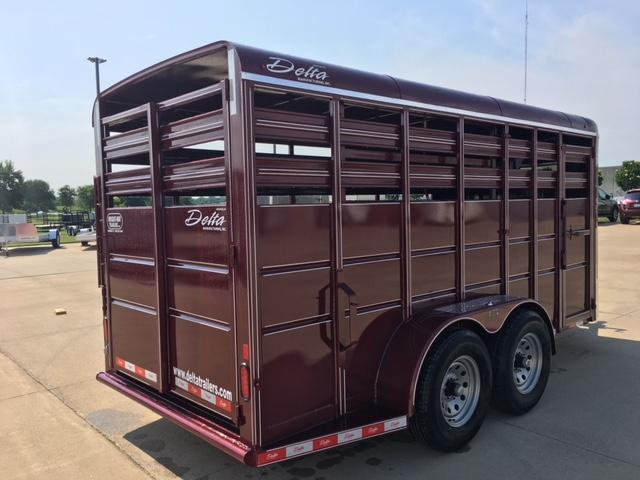 2019 Delta  6X16 500 Series Stock Livestock Trailer