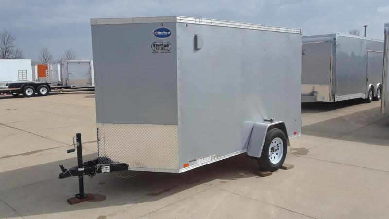 2019 United 6X10 V Nose Enclosed Cargo Trailer