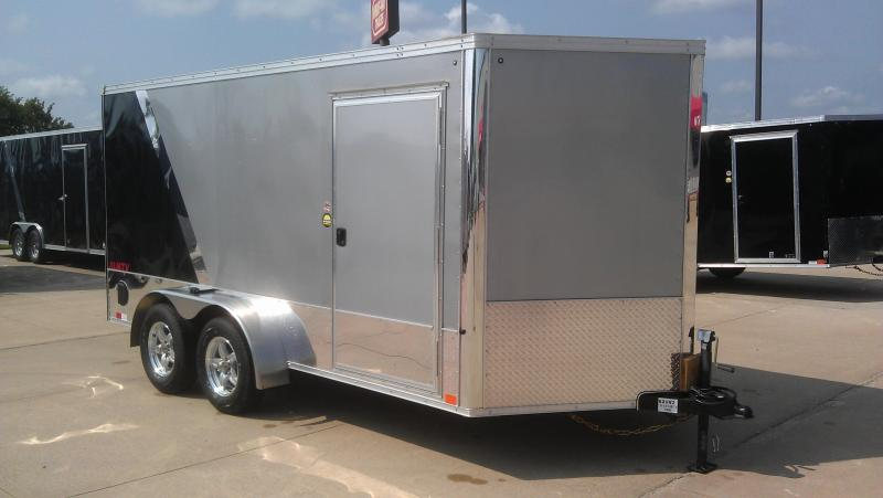 2018 United Trailers 7X14 V-Nose Motorcycle Trailer