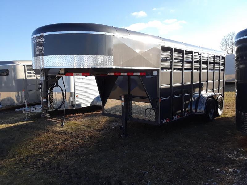 2019 Delta Gooseneck Livestock Stock Trailer 6x16
