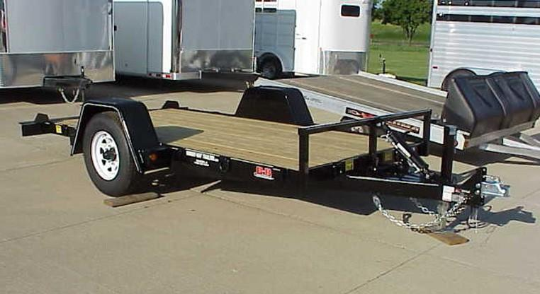 2018 B&B 6 X 12 Heavy Tilt Utility Trailer