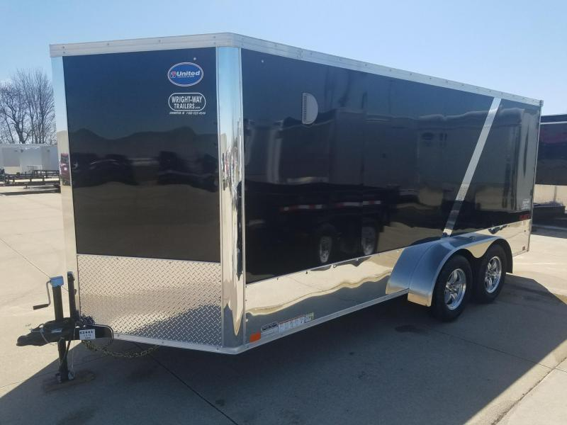 2019 United Trailers 7X16 XLMTV Motorcycle Trailer