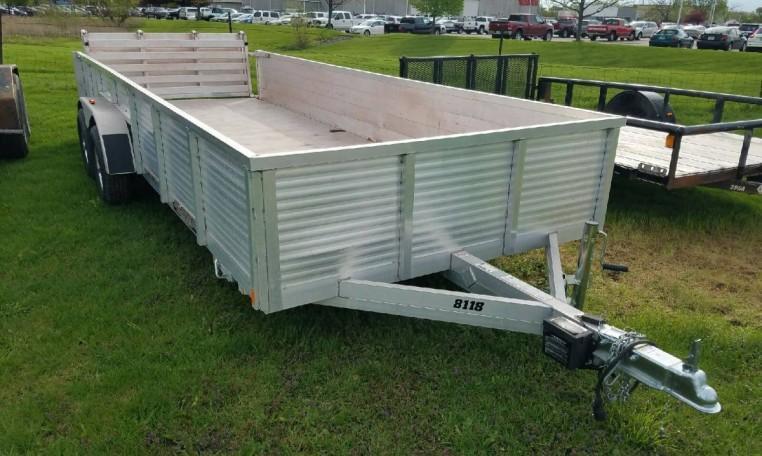 USED Aluma 8118 TA Utility Trailer