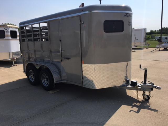 2019 Delta  6 x 14 Combo 2 Horse Slant Load Trailer