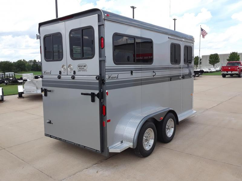 2019 Hawk Trailers AT-17-2 Horse Trailer