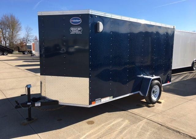 United XLV 6 X 12 V-Nose Enclosed Cargo Trailer